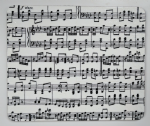 Set of 4 Placemats in Music Score Print